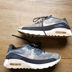 SALE Nike air max 90 ultra 2.0 flyknit pink shoes